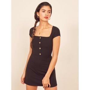 NWT Reformation Jeans Black Lizzy Dress